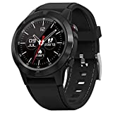 gandley Smartwatch, GPS Multisport Fitness Tracker Smart Watch für Herren, 1.3' Full-Touchscreen Armbanduhr mit Pulsuhren, Schrittzähler, Schlafmonitor, IP67 Wasserdicht Sportuhr für IOS Android